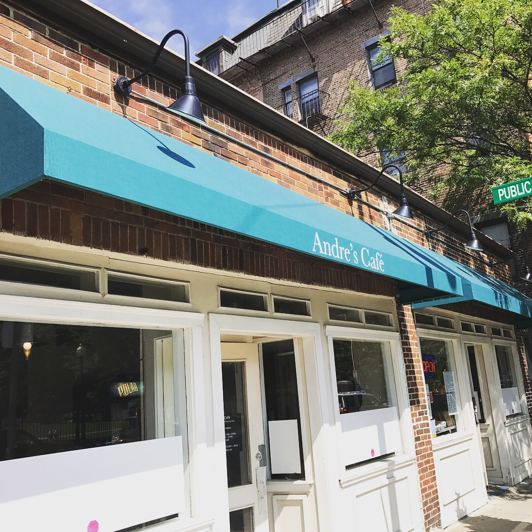 andres cafe awning recover lafuente sign and awning